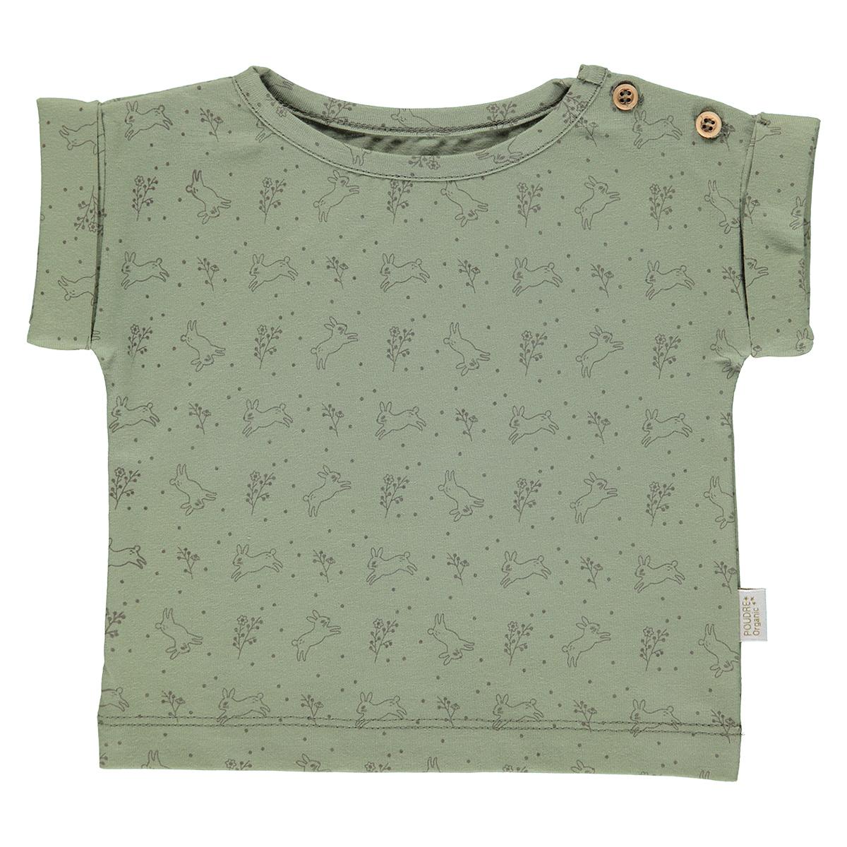 Haut bébé T-Shirt Bourrache Oil Green et Motifs - 12 Mois T-Shirt Bourrache Oil Green et Motifs - 12 Mois
