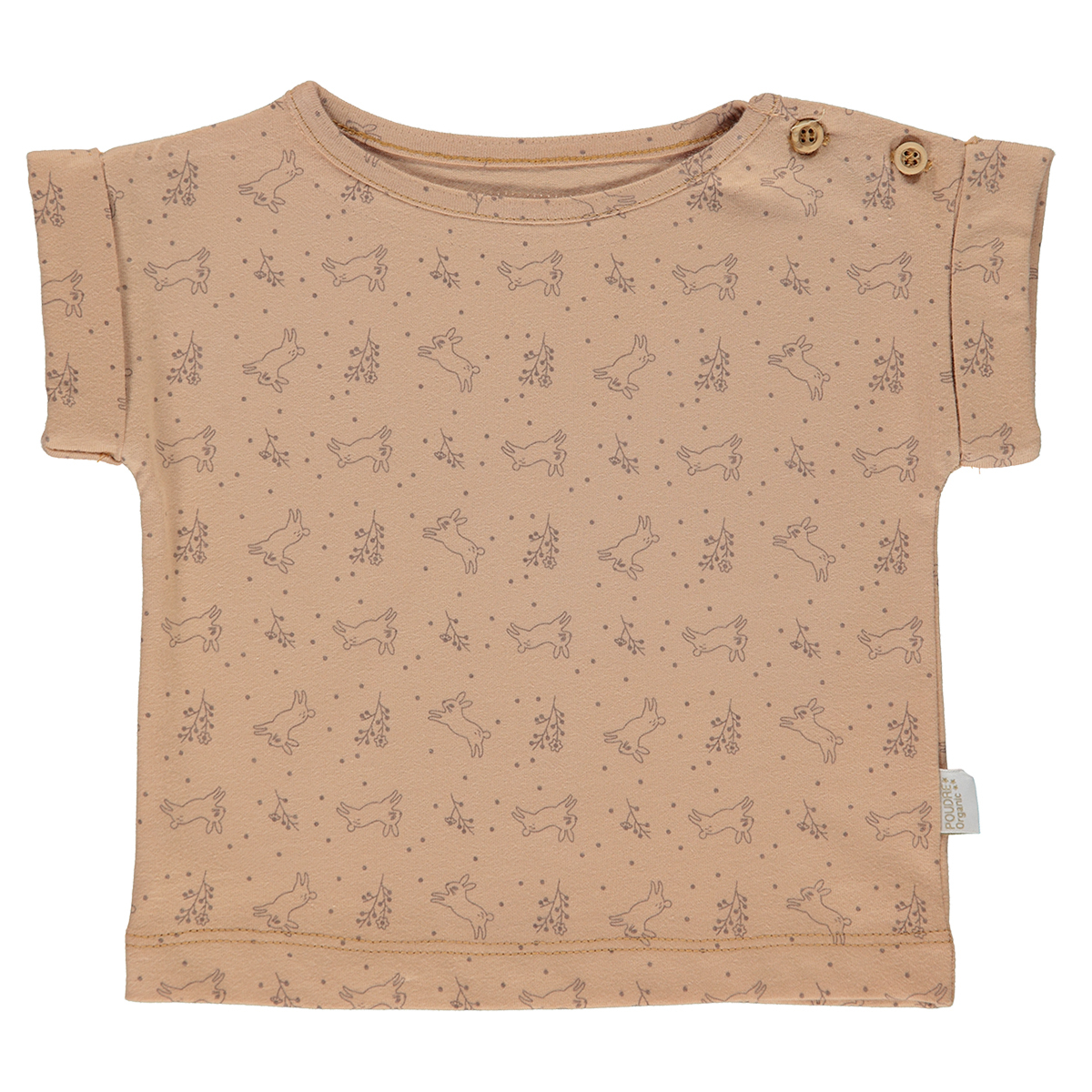 Haut bébé T-Shirt Bourrache Indian Tan et Motifs - 12 Mois