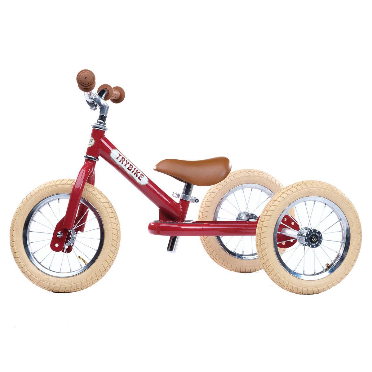 Trotteur & Porteur Trybike 2 en 1 - Vintage Rouge Trybike 2 en 1 - Vintage Rouge