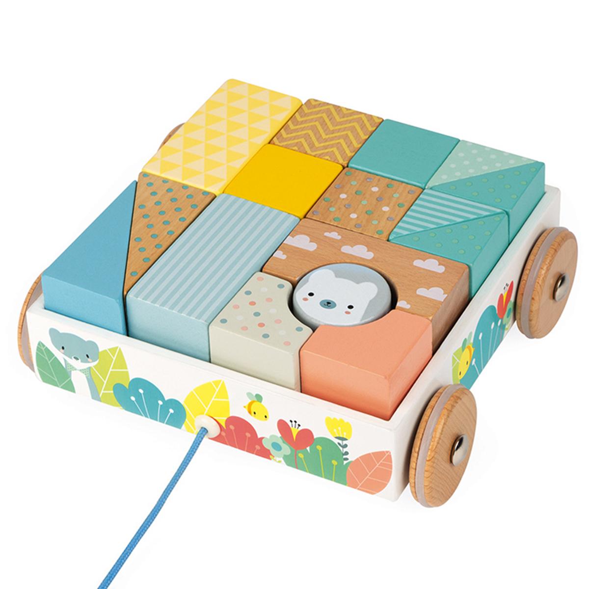 Mes premiers jouets Chariot de Cubes à Promener Pure Chariot de Cubes à Promener Pure