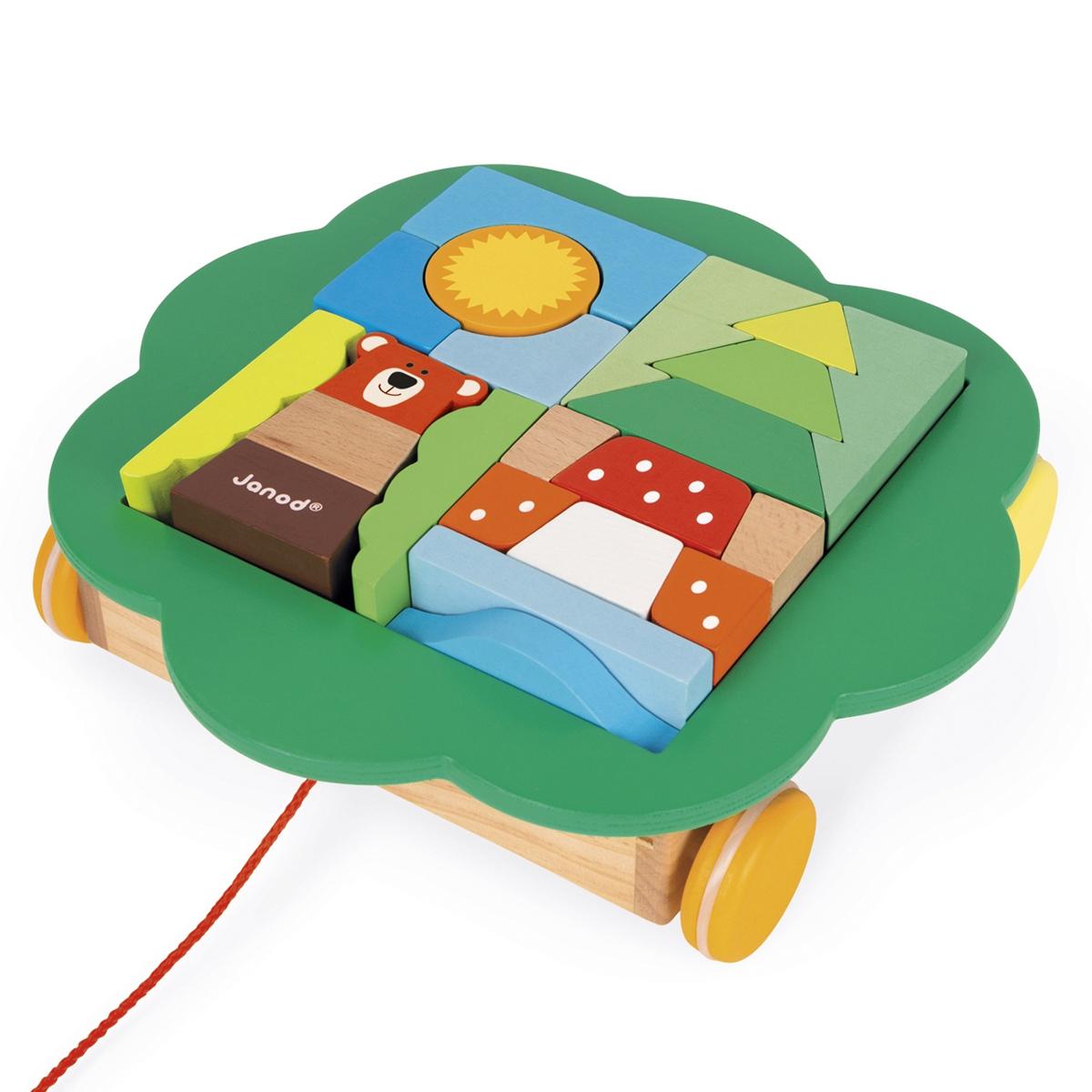 Mes premiers jouets Chariot de Cubes à Promener Zigolos Chariot de Cubes à Promener Zigolos