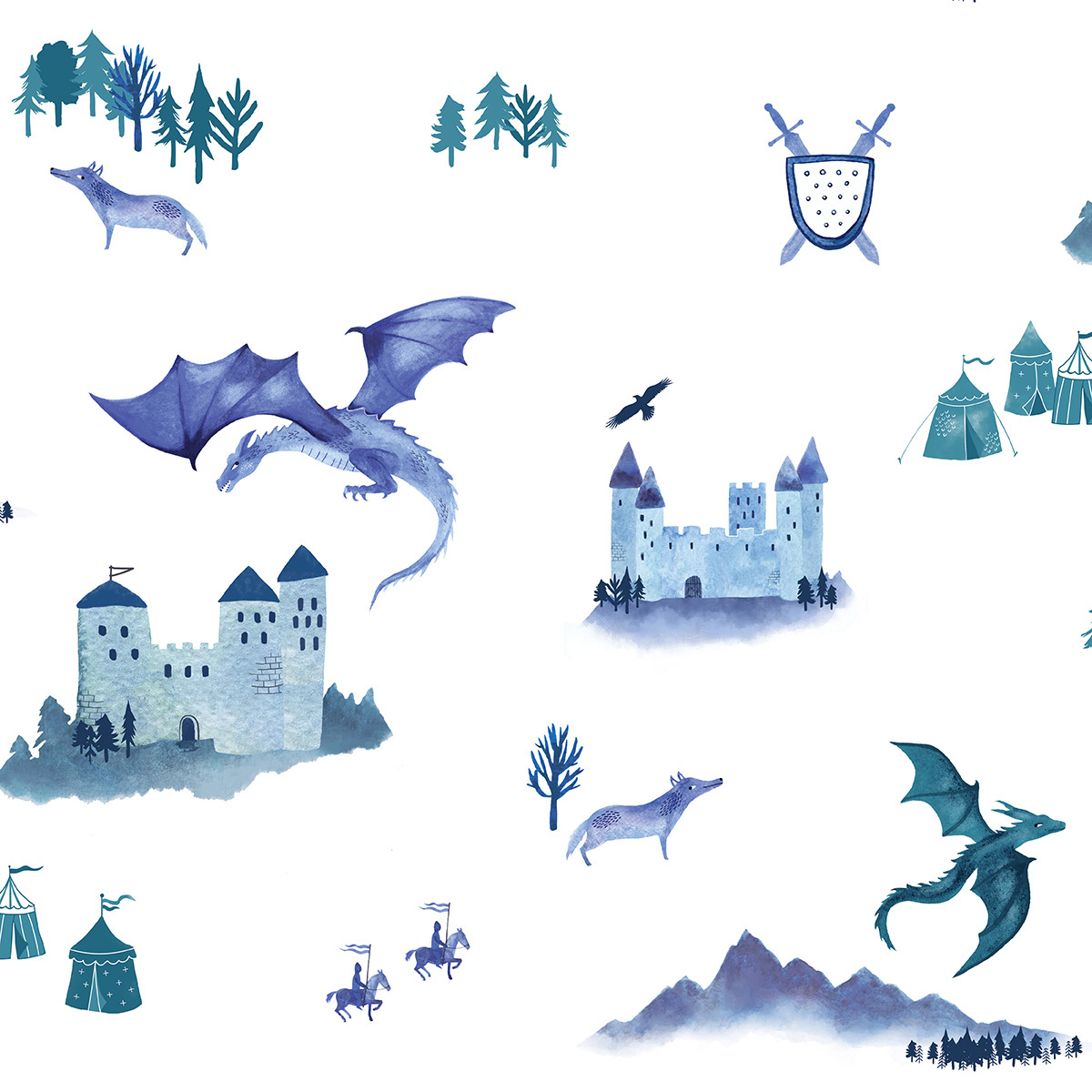 Papier peint Papier Peint Castle and Dragons Papier Peint Castle and Dragons