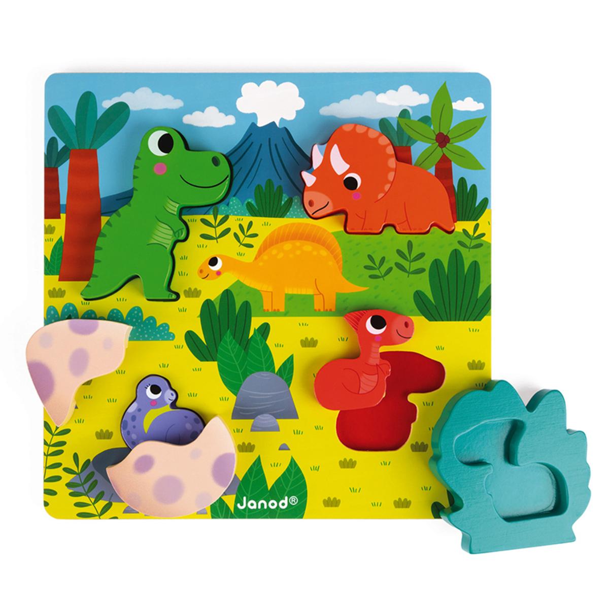 Mes premiers jouets Puzzle Cache-Cache Dino Puzzle Cache-Cache Dino