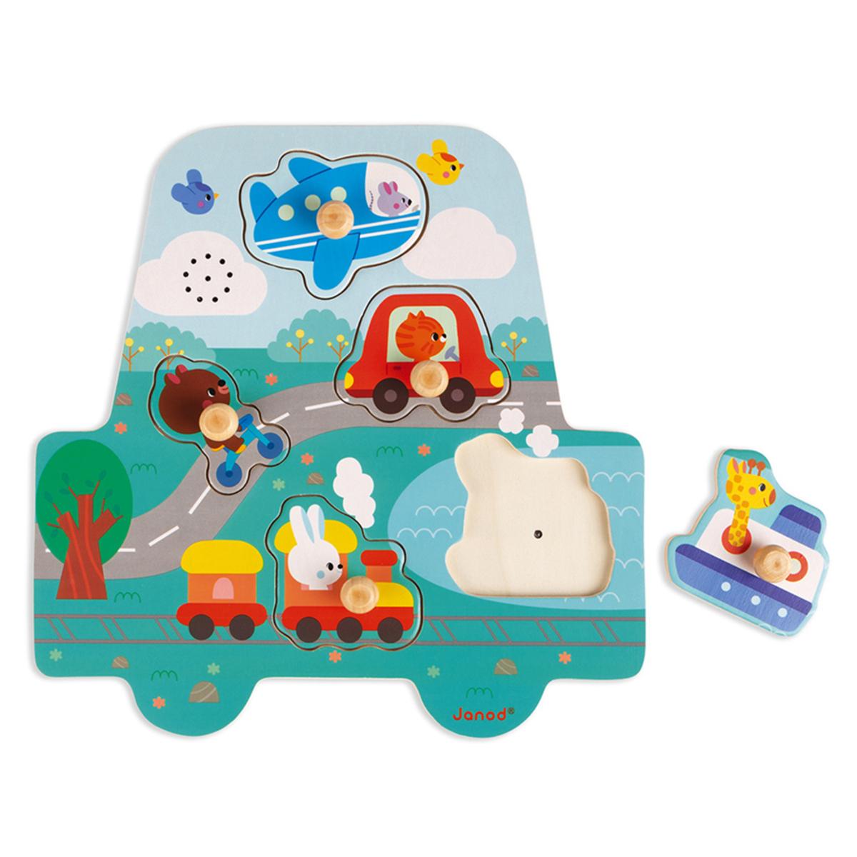 Mes premiers jouets Puzzle Musical Les Petits Bolides