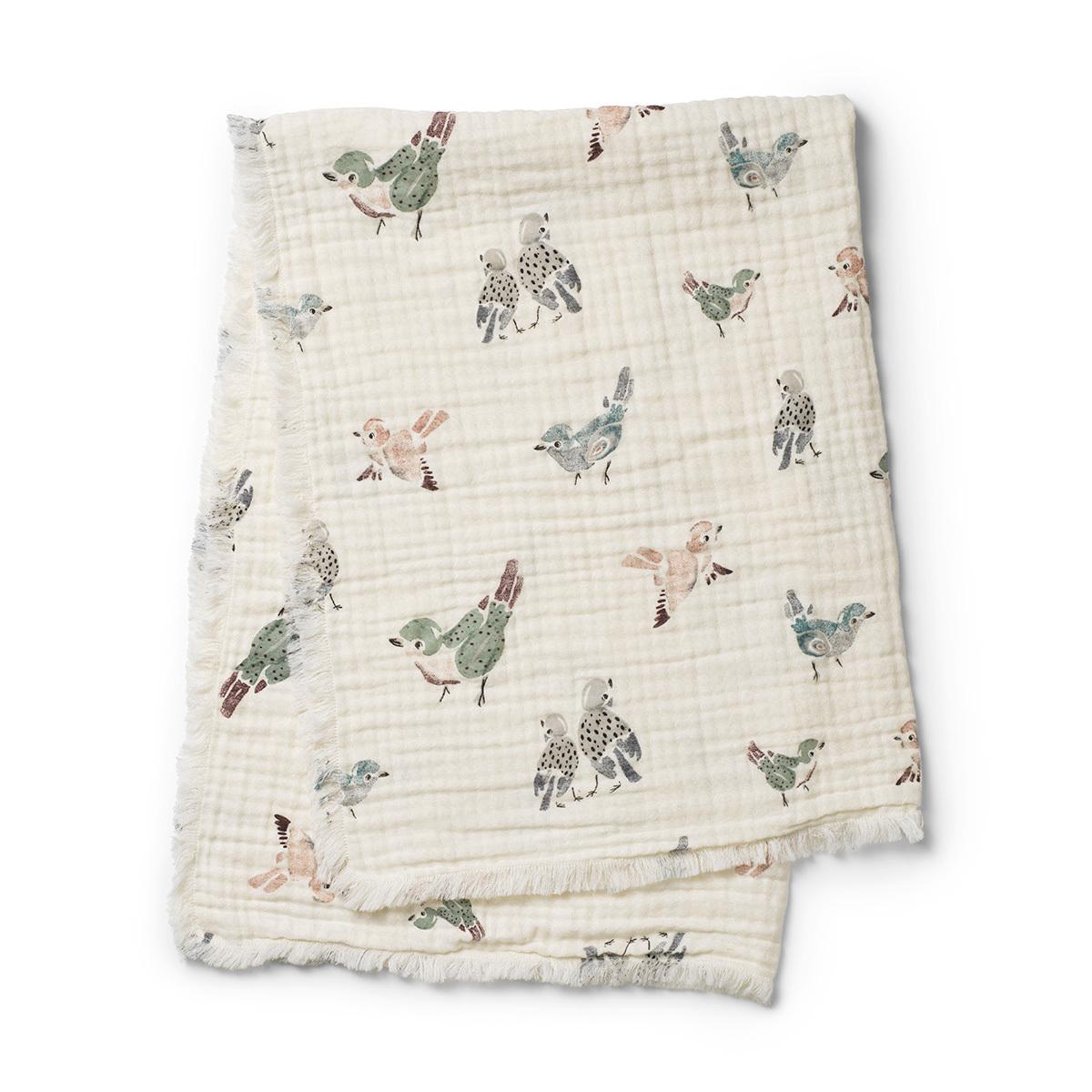 Linge de lit Couverture en Coton Froissé - Feathered Friends Couverture en Coton Froissé - Feathered Friends