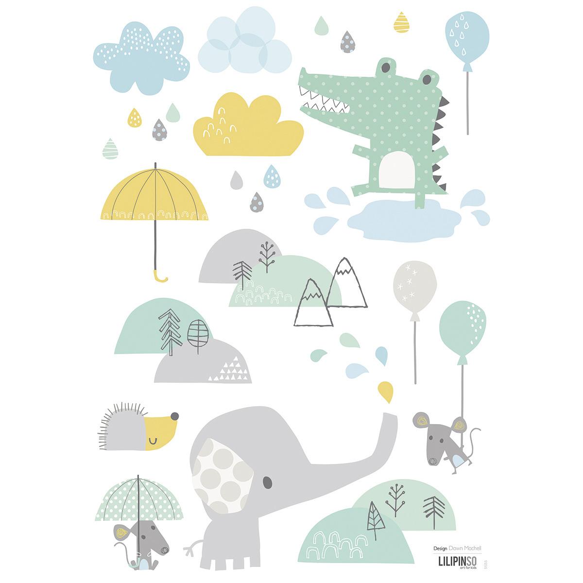 Sticker Planche de Stickers - Bébé Eléphant Planche de Stickers - Bébé Eléphant