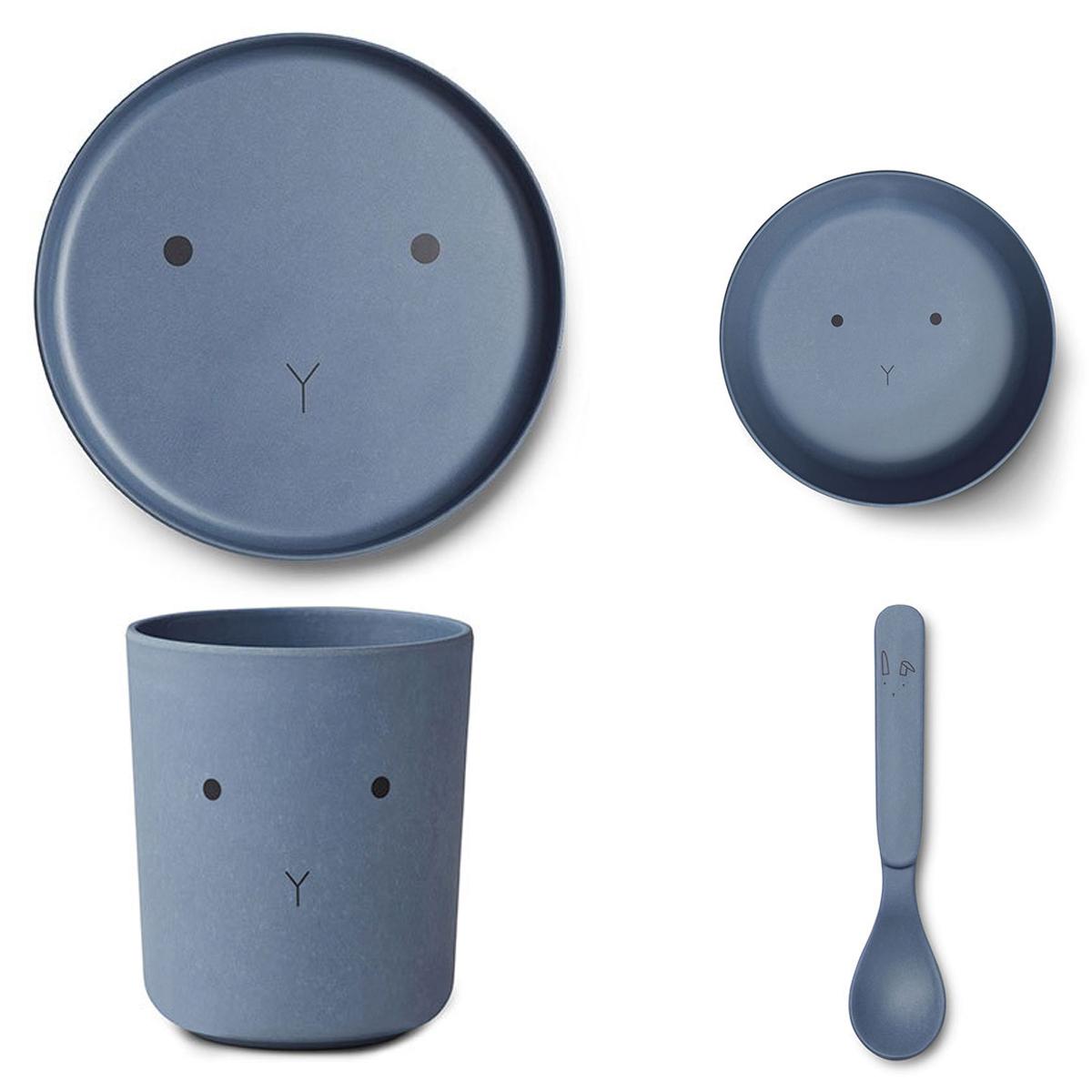 Coffret repas Set de Vaisselle Rabbit - Blue Wave Set de Vaisselle Rabbit - Blue Wave