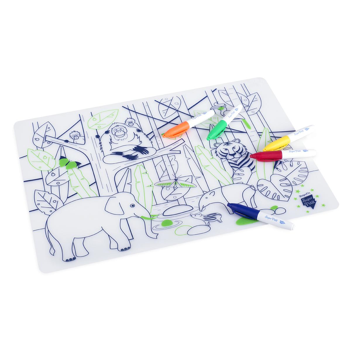 Vaisselle & Couvert Set de Table à Colorier et ses 5 feutres - Wildlife Set de Table à Colorier et ses 5 feutres - Wildlife
