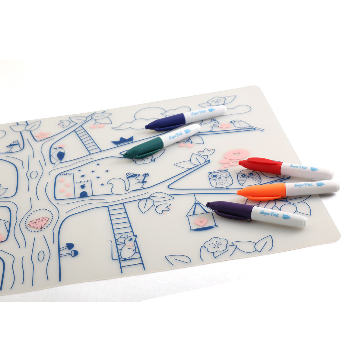 Vaisselle & Couvert Set de Table à Colorier et ses 5 feutres - Arbre Magique Set de Table à Colorier et ses 5 feutres - Arbre Magique