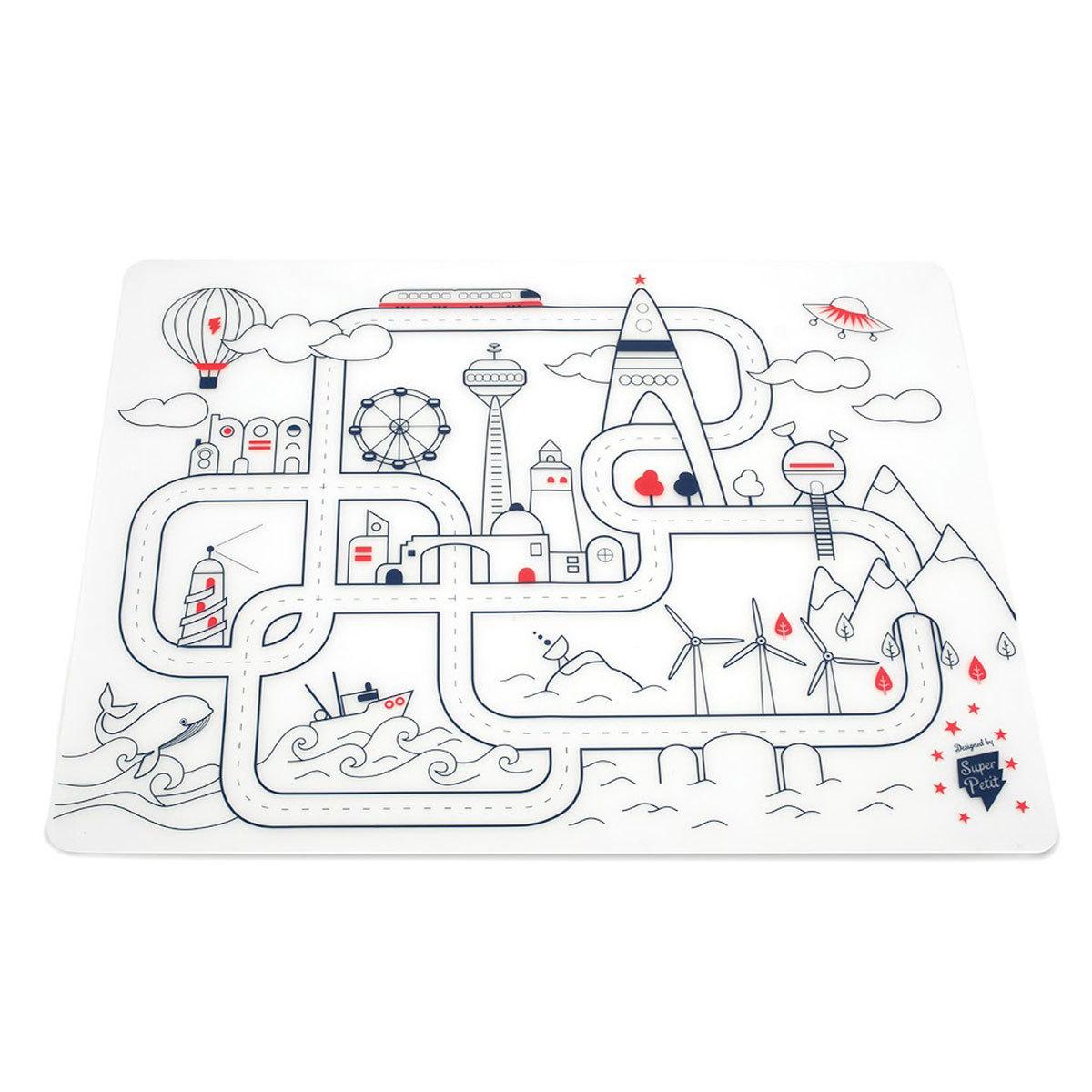 Vaisselle & Couvert Set de Table à Colorier et ses 5 feutres - City Aventure Set de Table à Colorier et ses 5 feutres - City Aventure