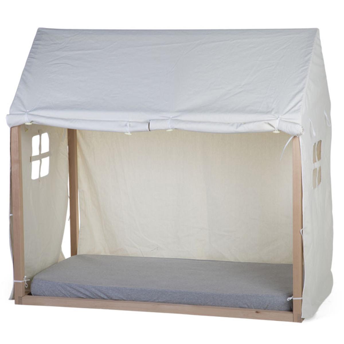 Lit bébé Toile Petite Maison Blanc - 70 x 140 cm