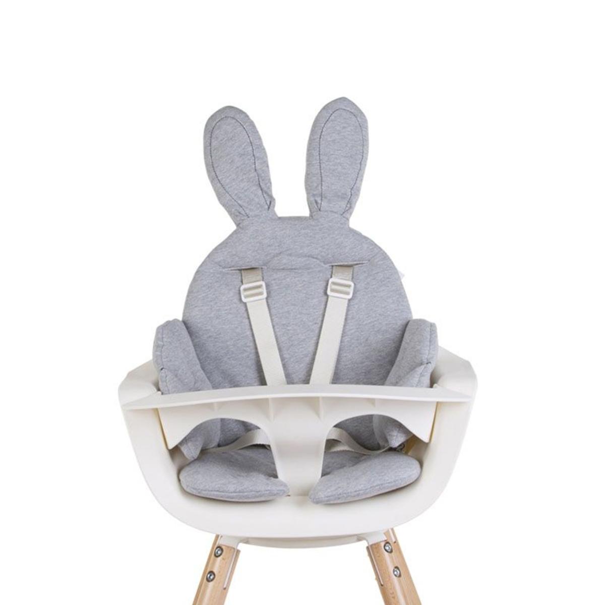 Chaise haute Coussin de Chaise Rabbit Jersey - Gris Coussin de Chaise Rabbit Jersey - Gris