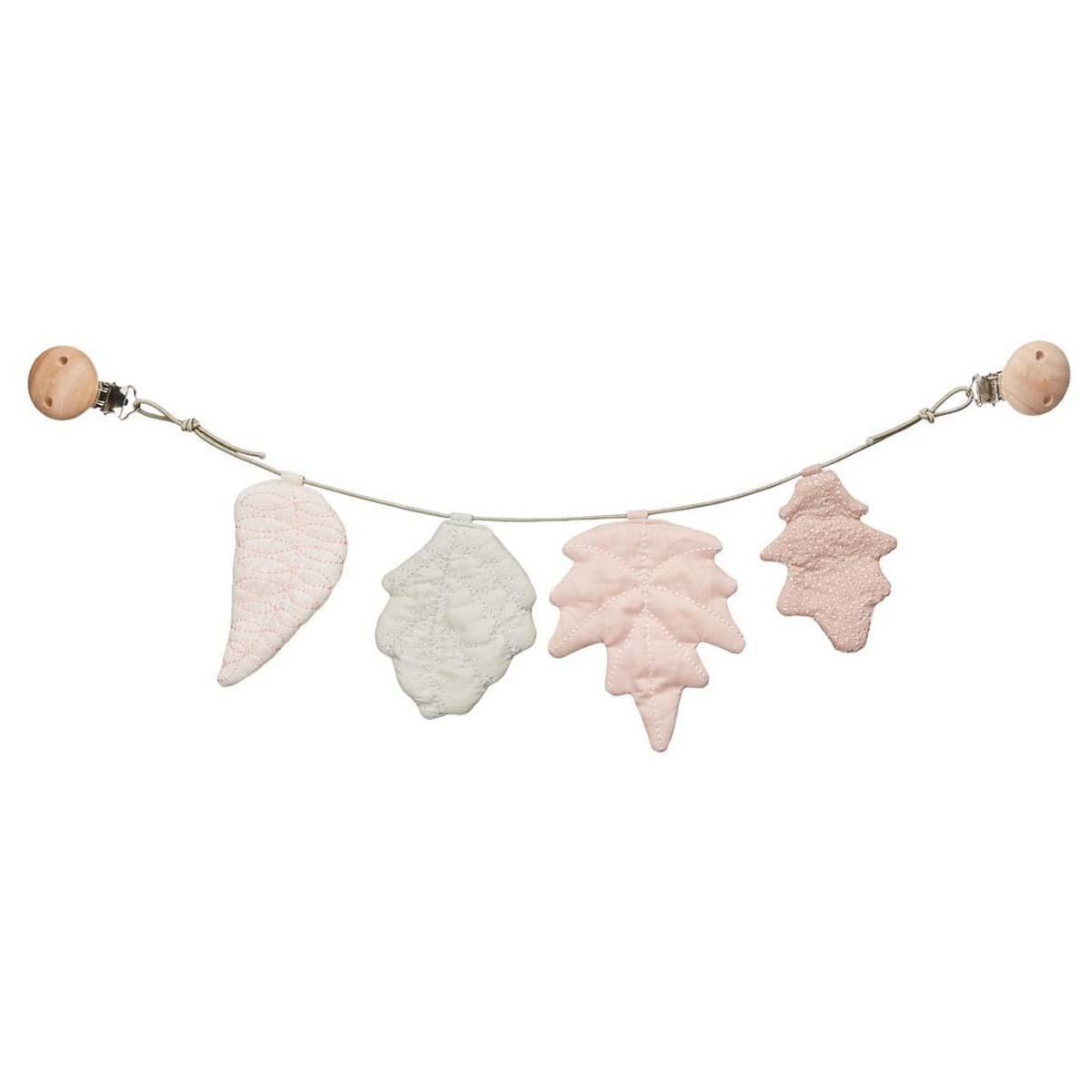 Accessoires poussette Chaîne de Poussette Feuilles - Rose