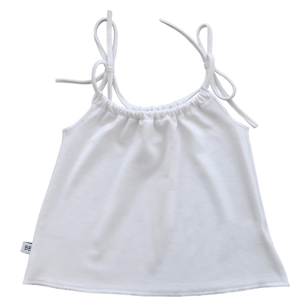 Haut bébé Débardeur Fines Bretelles Blanc - 6 Mois Débardeur Fines Bretelles Blanc - 6 Mois