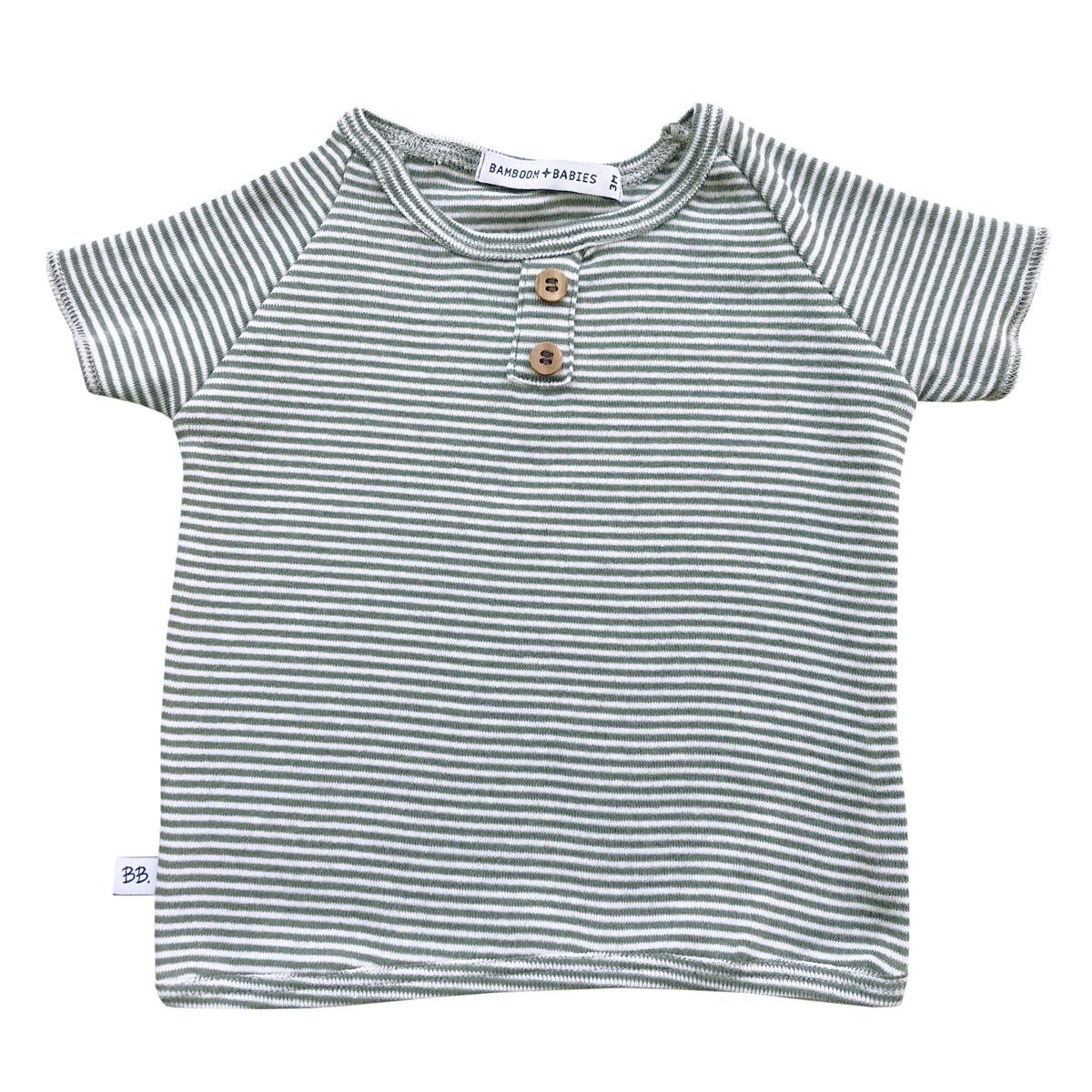 Haut bébé Tee-Shirt Milleraies Vert - 18 Mois Tee-Shirt Milleraies Vert - 18 Mois
