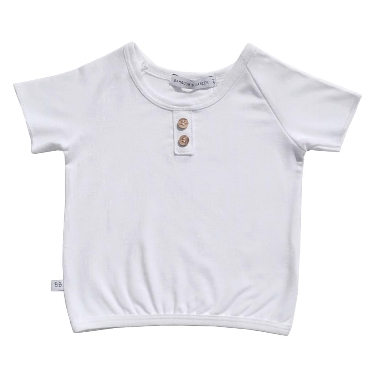 Haut bébé Tee-Shirt Blanc - 6 Mois Tee-Shirt Blanc - 6 Mois