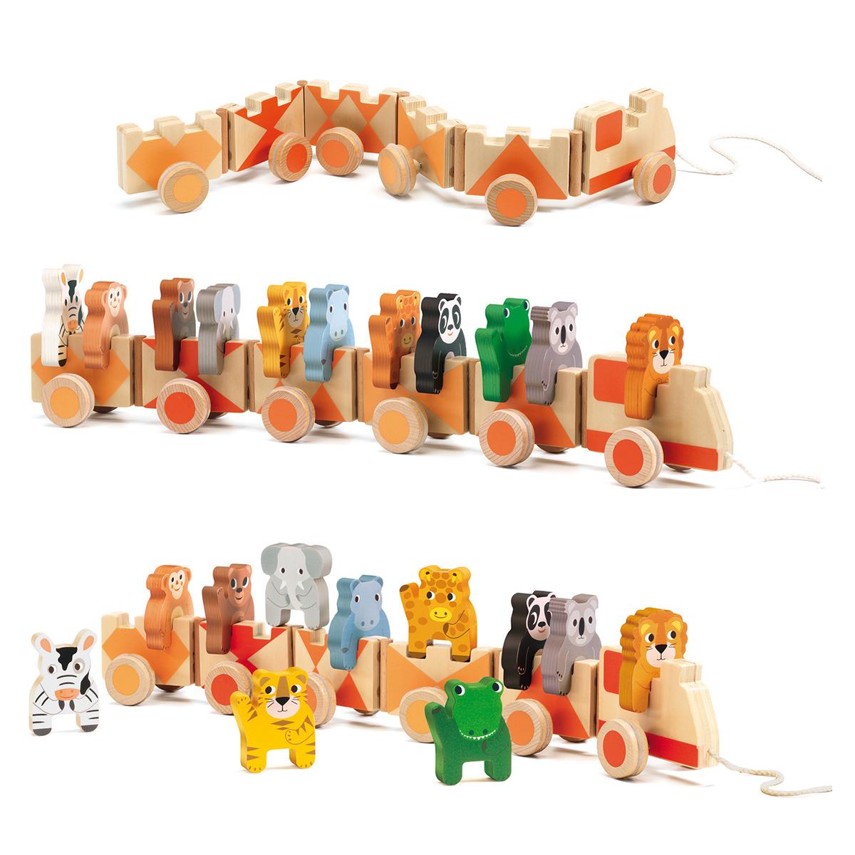 Mes premiers jouets Jouet à Tirer Trainimo Jungle Jouet à Tirer Trainimo Jungle