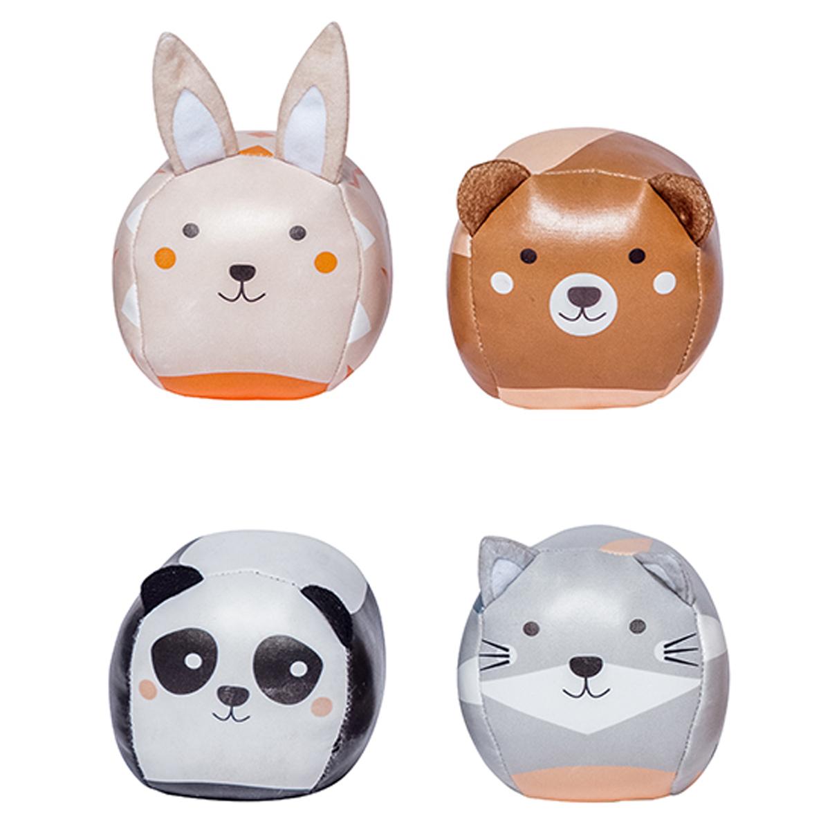 Mes premiers jouets Set de 4 Balles Doudou - Les Dooballs