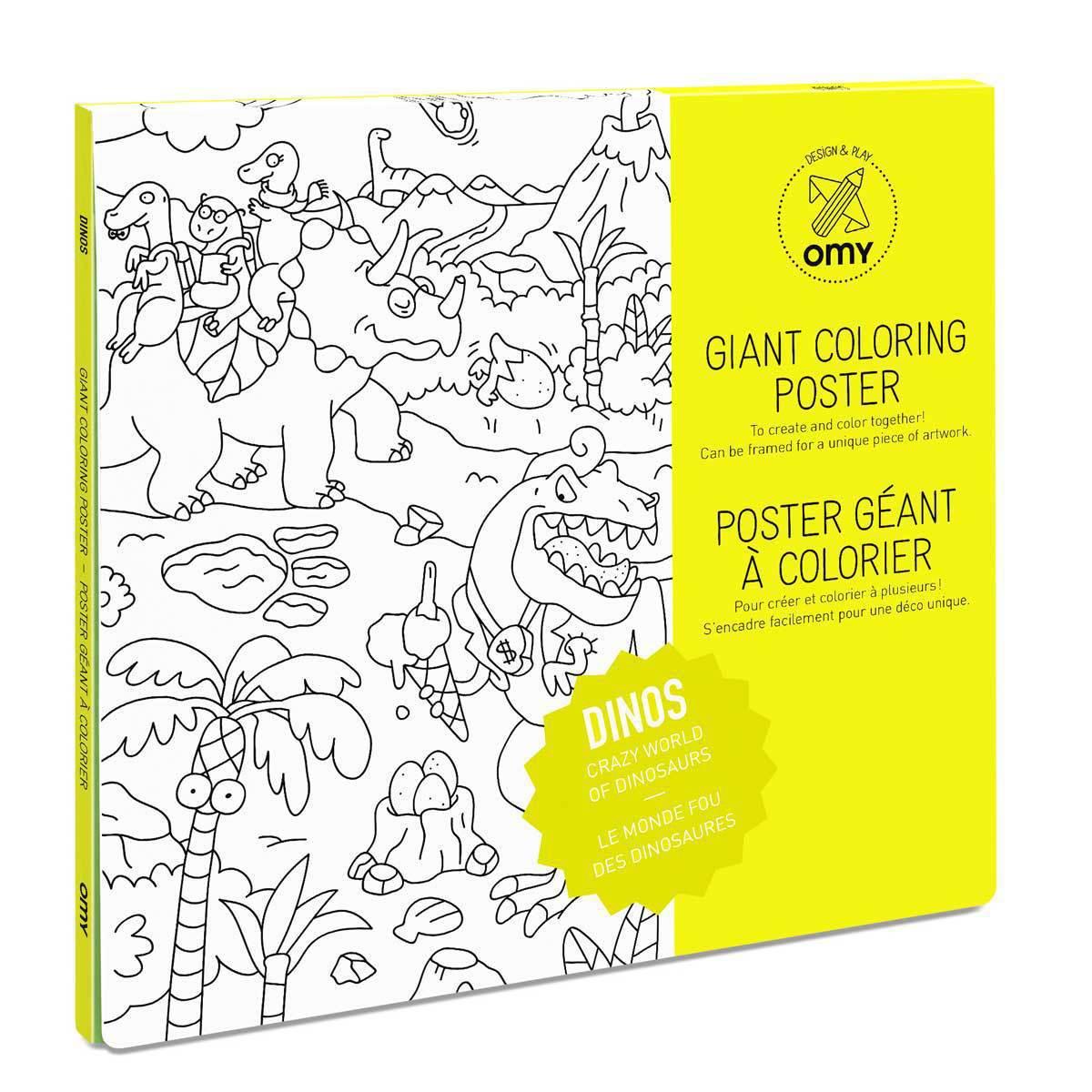 Livre & Carte Poster à colorier - Dinos Poster à colorier - Dinos