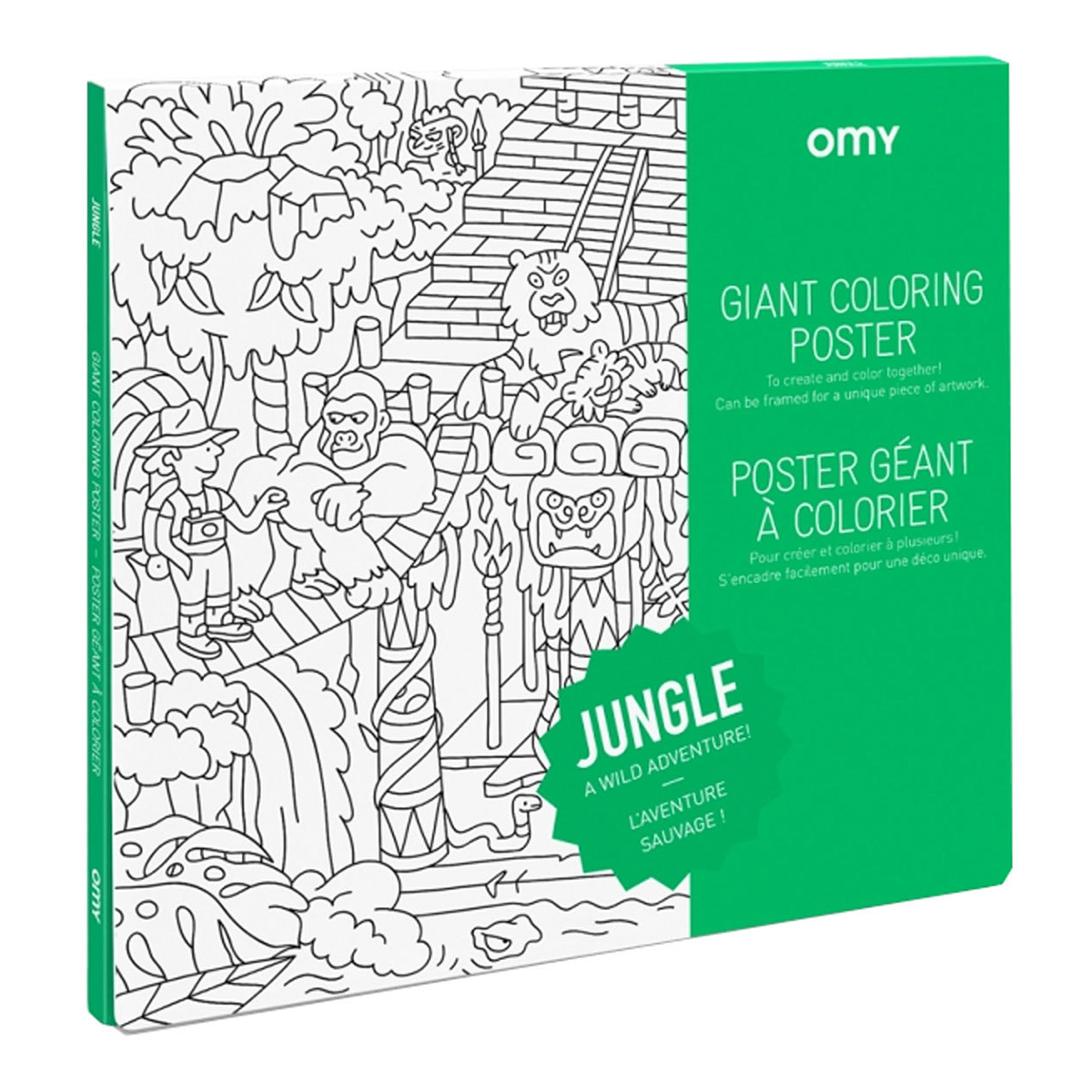 Livre & Carte Poster à Colorier - Jungle Poster à Colorier - Jungle