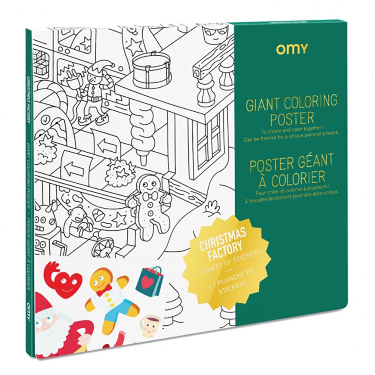 Livre & Carte Poster à Colorier - L'atelier du Père Noël Poster à Colorier - L'atelier du Père Noël