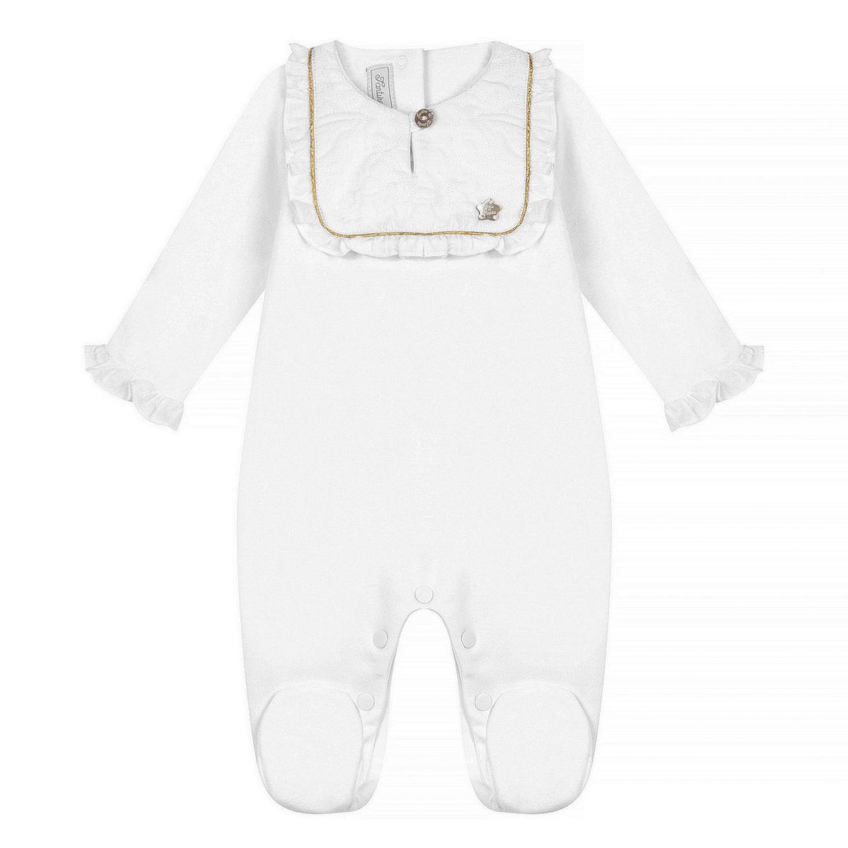 Body & Pyjama Pyjama Dors-Bien Monogramme Blanc - 3 Mois