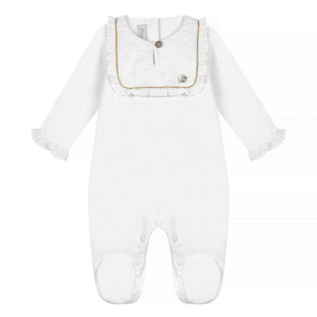 Body & Pyjama Pyjama Dors-Bien Monogramme Blanc - 1 Mois
