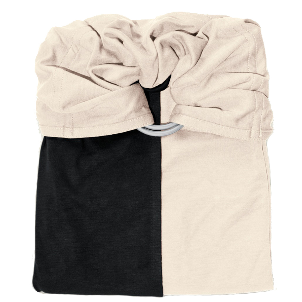 Porte bébé La Petite Echarpe sans Noeud - Noir et Ecru La Petite Echarpe sans Noeud - Noir et Ecru