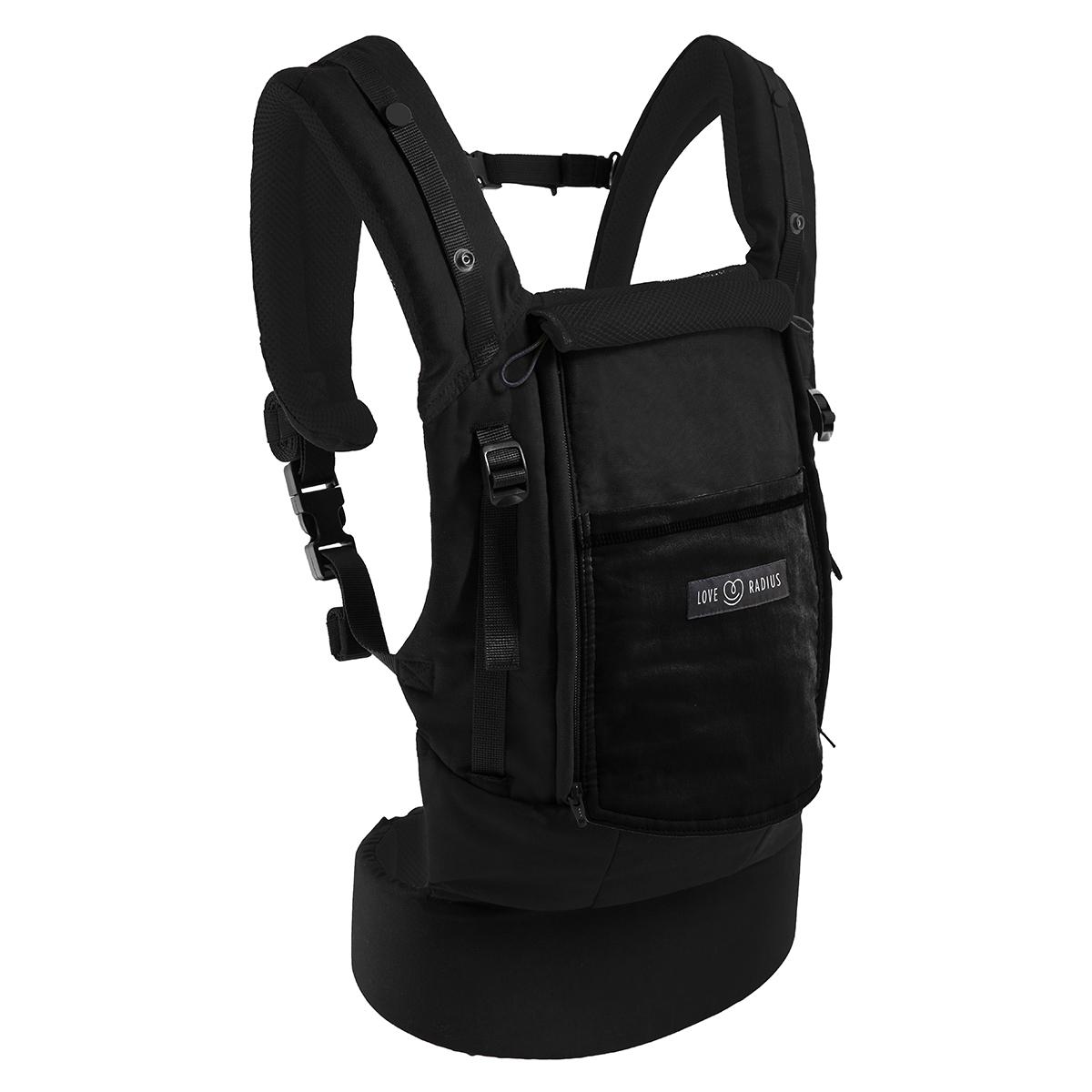 Porte bébé Porte-bébé PhysioCarrier et Booster Pack - Noir