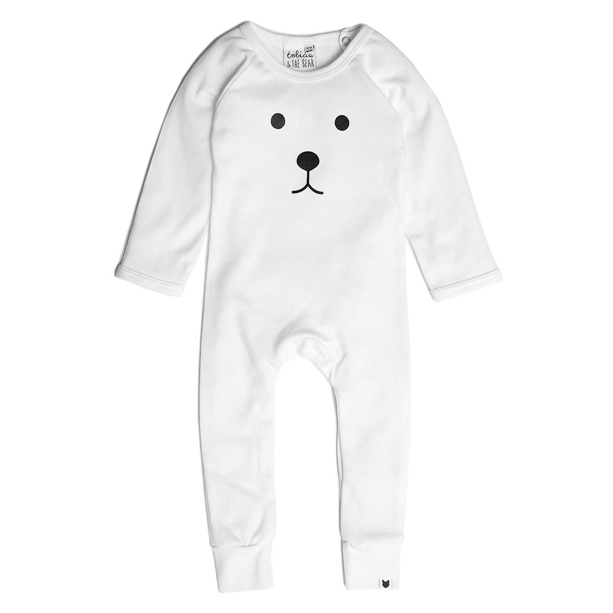 Body & Pyjama Pyjama Sans Pied Ours Blanc - 18/24 Mois Pyjama Sans Pied Ours Blanc - 18/24 Mois