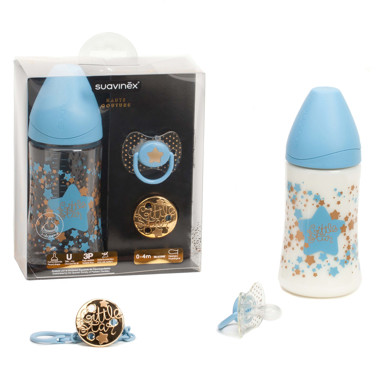 Biberon Pack Couture Bleu - 270 ml Pack Couture Bleu - 270 ml