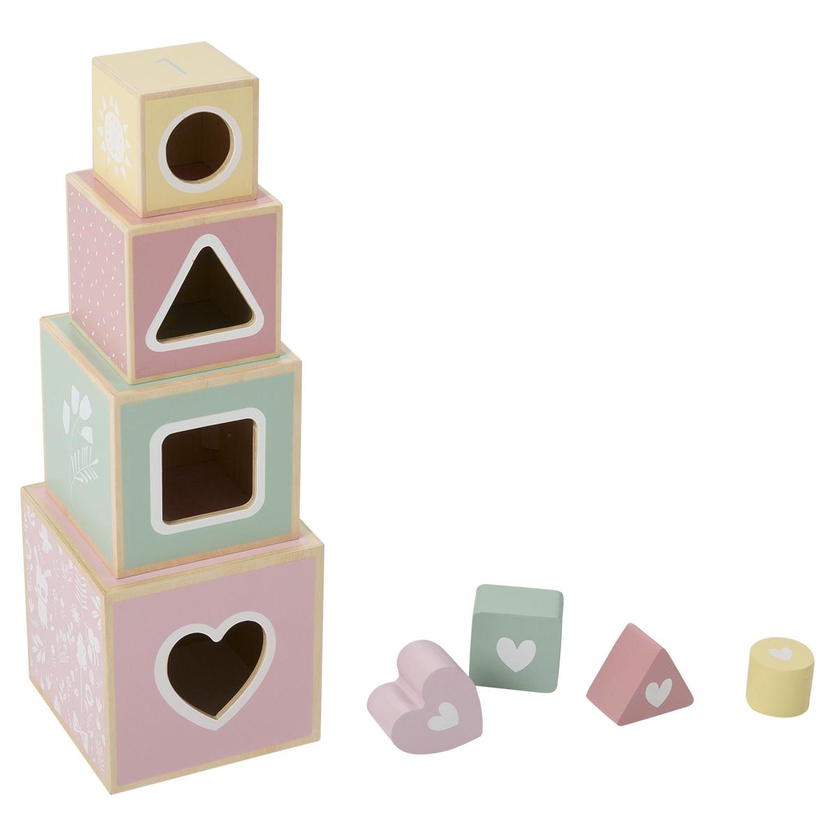Mes premiers jouets Boîte à Formes en Bois Aventure Rose Boîte à Formes en Bois Aventure Rose