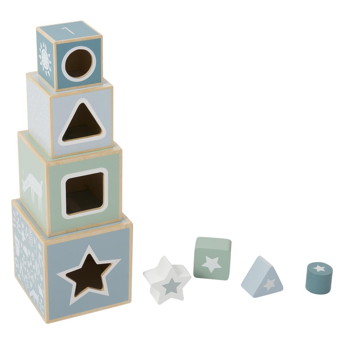 Mes premiers jouets Boîte à Formes en Bois Aventure Bleu Boîte à Formes en Bois Aventure Bleu