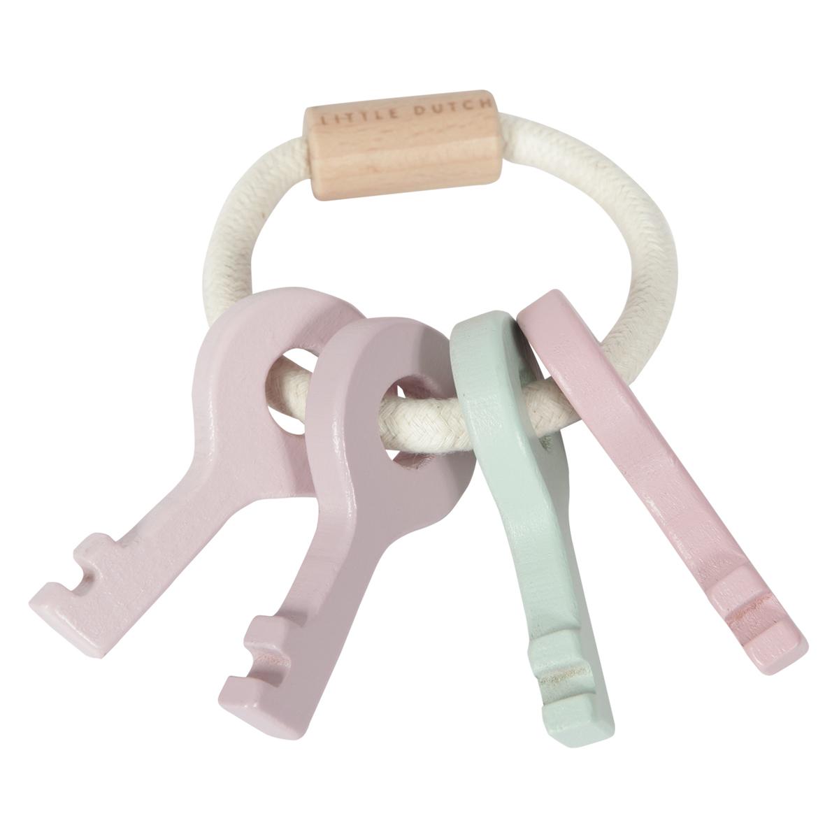Mes premiers jouets Trousseau de Clés en Bois Rose Trousseau de Clés en Bois Rose