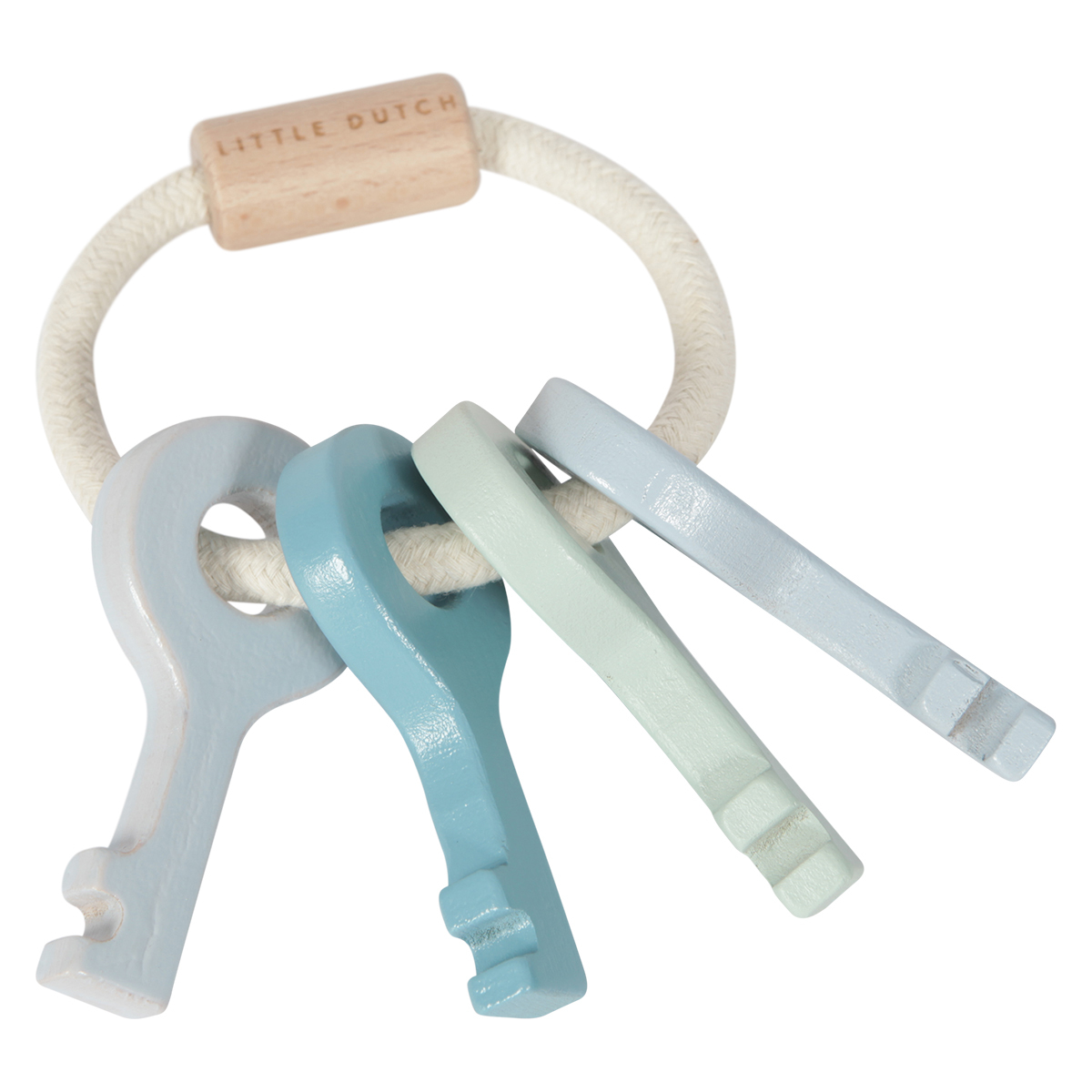 Mes premiers jouets Trousseau de Clés en Bois Bleu Trousseau de Clés en Bois Bleu