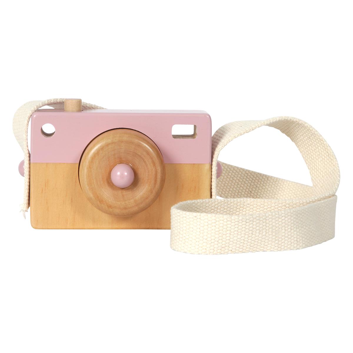 Mes premiers jouets Appareil Photo en Bois Rose Appareil Photo en Bois Rose
