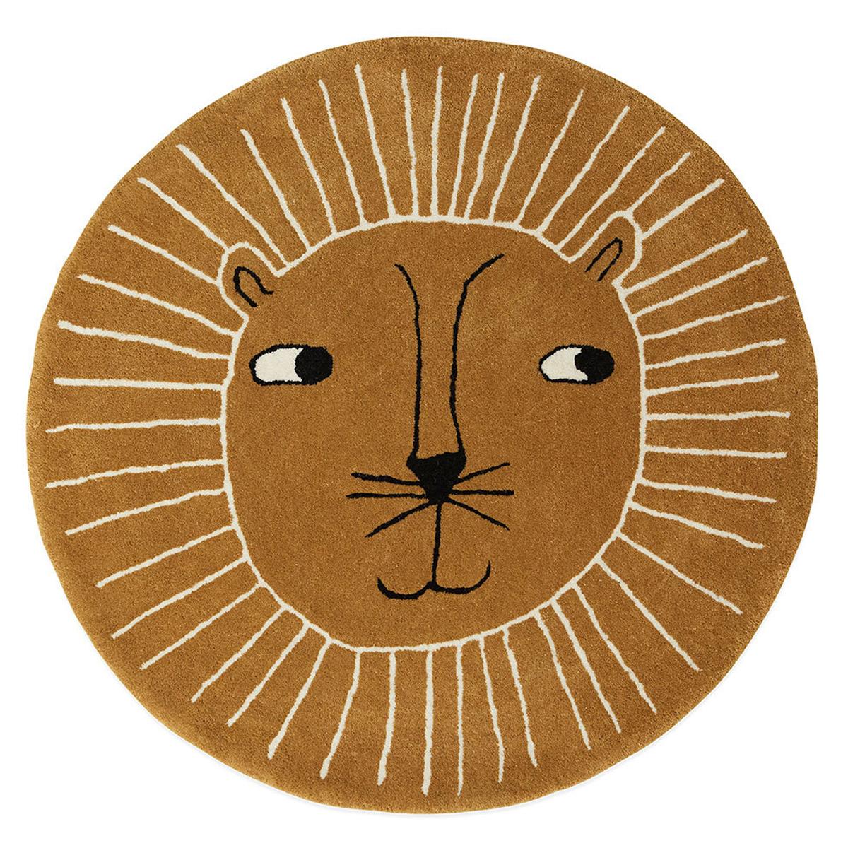 cm Lion Caramel 100 Tapis Ø 9IeEbH2WDY