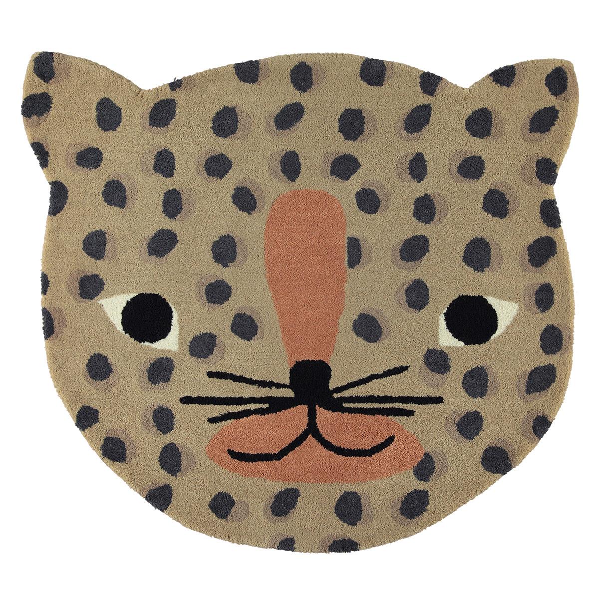 Tapis Tapis Leopard Camel - 84 x 94 cm