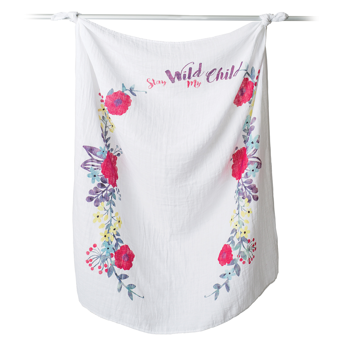 Lange Lange en Coton et Cartes - Stay Wild My Child Lange en Coton et Cartes - Stay Wild My Child
