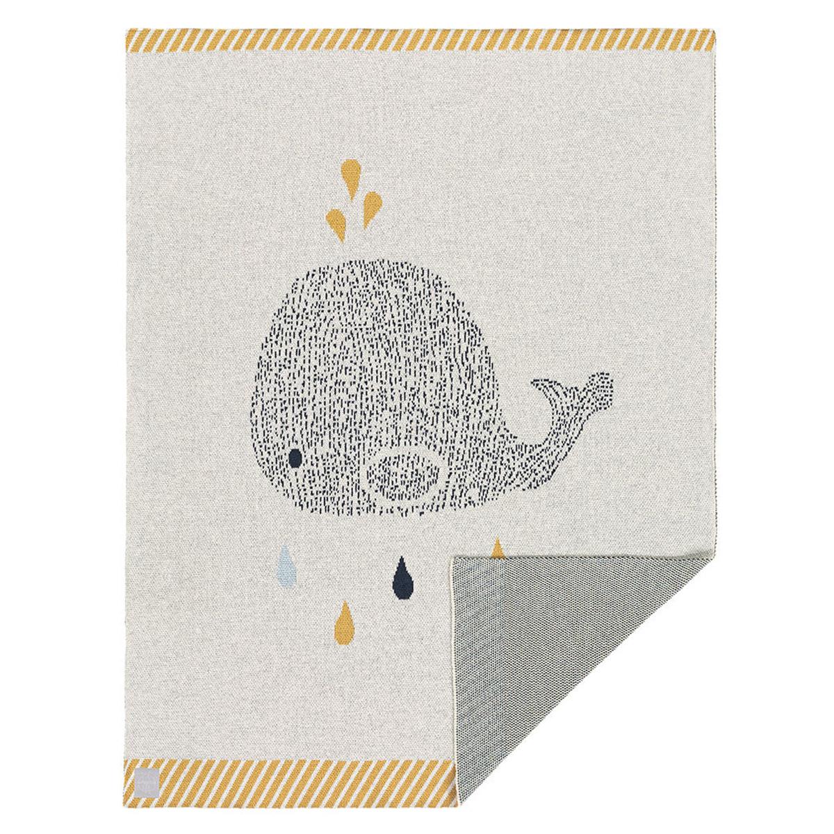 Linge de lit Couverture Little Water Baleine