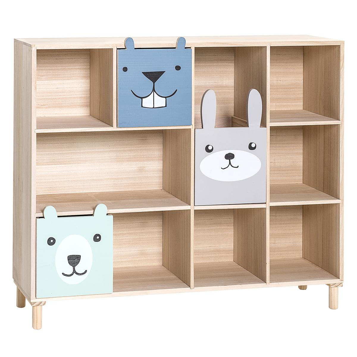 Étagère Bibliothèque Animaux - Bleu Bibliothèque Animaux - Bleu