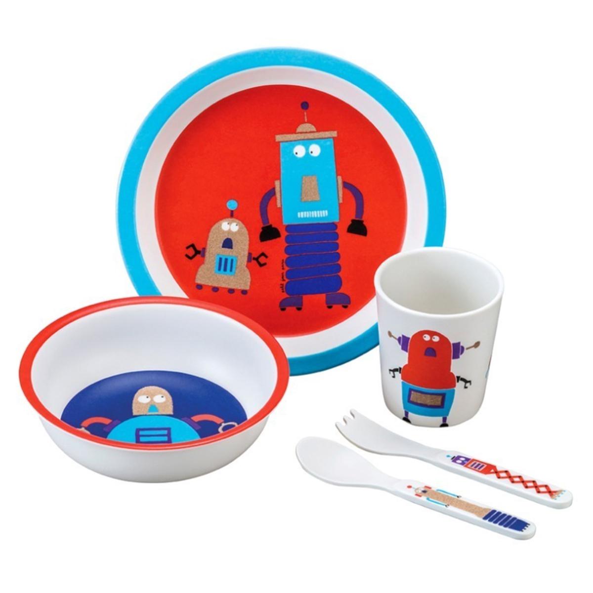 Coffret repas Coffret Cadeau 5 Pièces Scintillant - Les Robots Coffret Cadeau 5 Pièces Scintillant - Les Robots