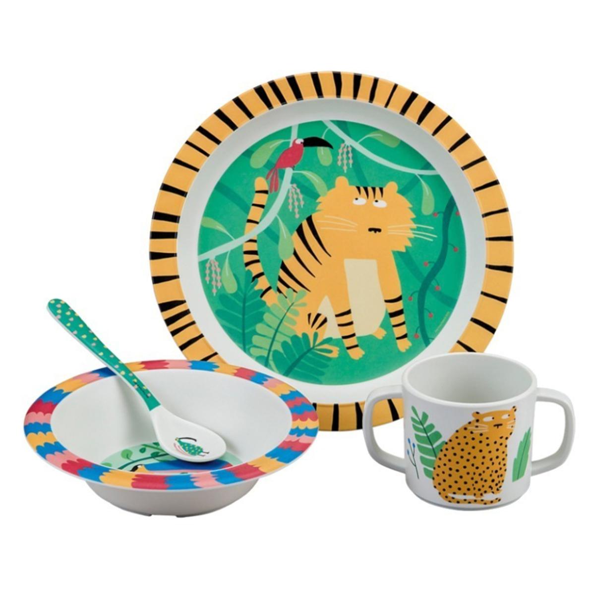 Coffret repas Coffret Cadeau 4 Pièces - La Jungle Coffret Cadeau 4 Pièces - La Jungle