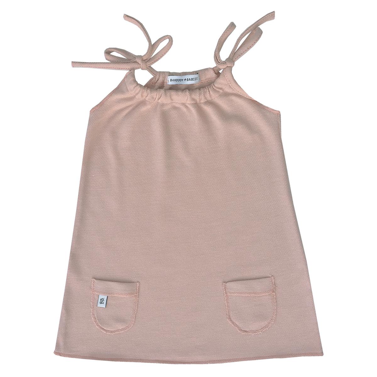 Robe & combinaison Robe à Fines Bretelles Rose - 6 Mois
