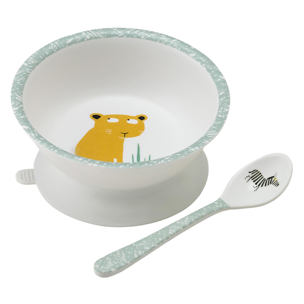 Vaisselle & Couvert Bol Ventouse et Cuillère - Savane Bol Ventouse et Cuillère - Savane