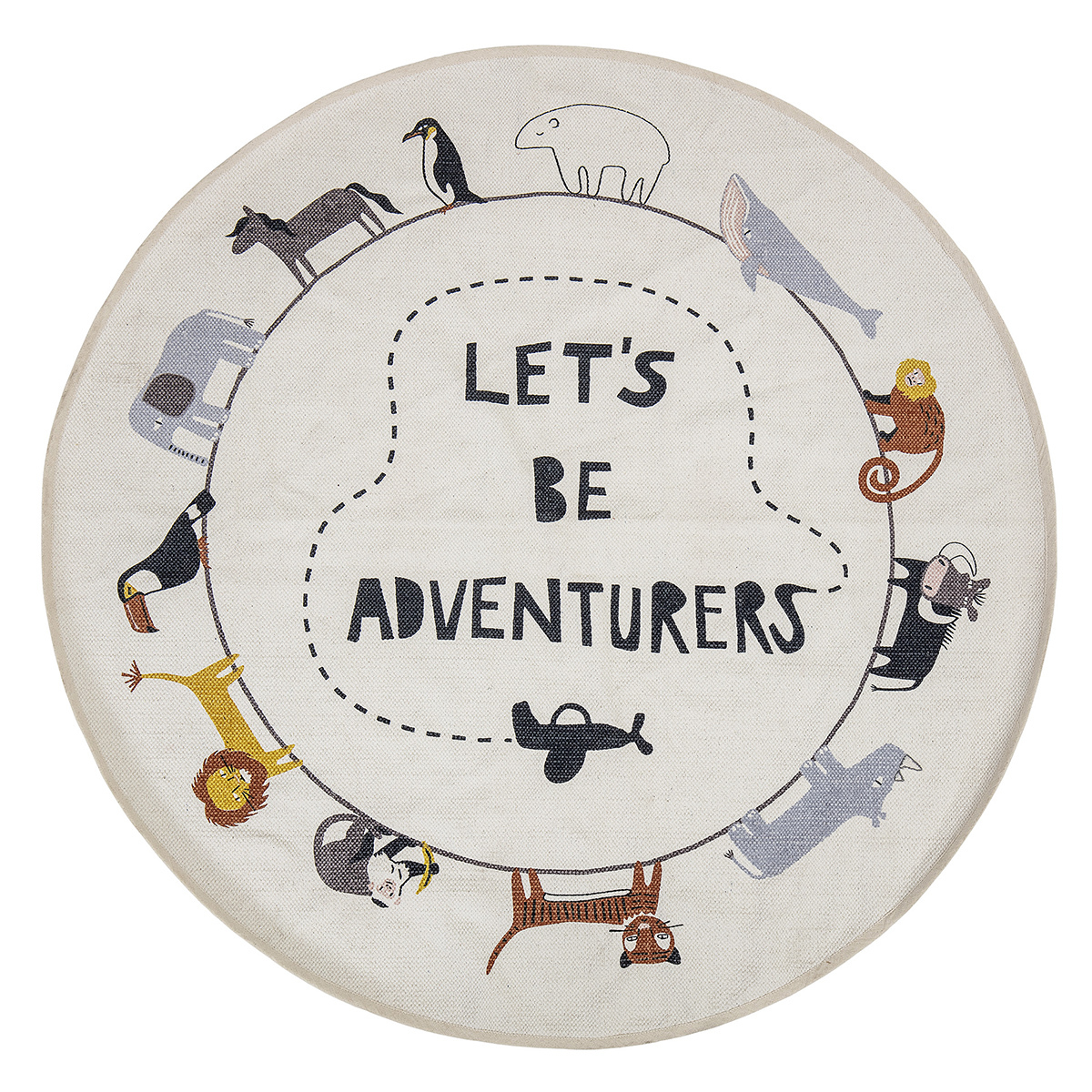 Tapis Tapis Coton Let's Be Adventurers - Ø 130 cm Tapis Coton Let's Be Adventurers - Ø 130 cm