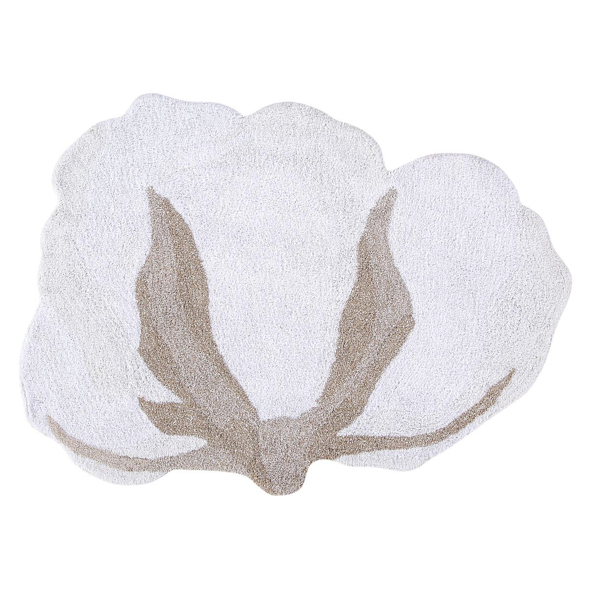 Tapis Tapis Lavable Fleur de Coton - 120 x 130 cm Tapis Lavable Fleur de Coton - 120 x 130 cm