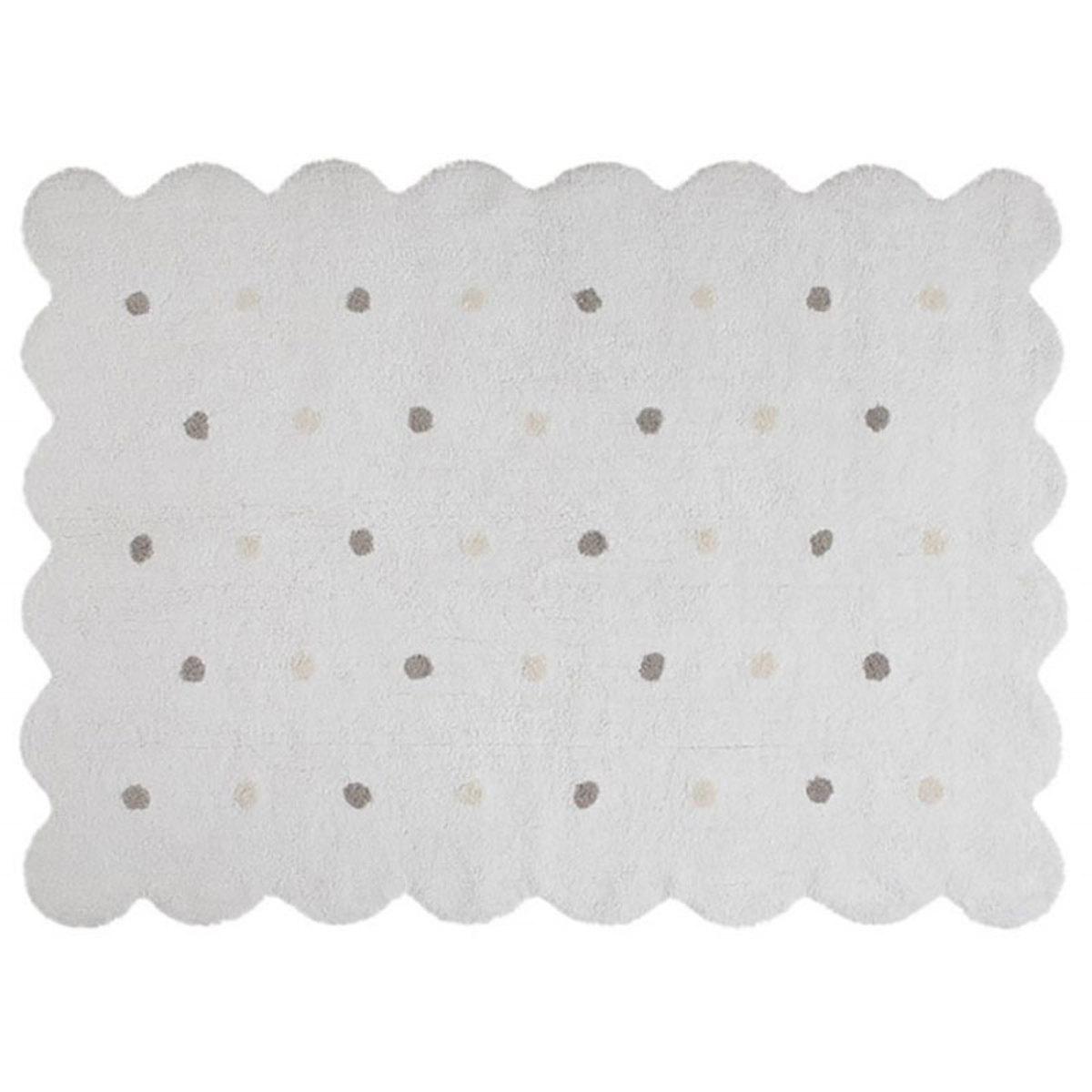 Tapis Tapis Lavable Biscuit Blanc - 120 x 160 cm Tapis Lavable Biscuit Blanc - 120 x 160 cm