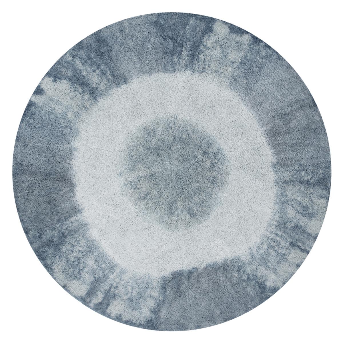 Tapis Tapis Lavable Tie-Dye Vintage Blue - Ø 150 cm Tapis Lavable Tie-Dye Vintage Blue - Ø 150 cm