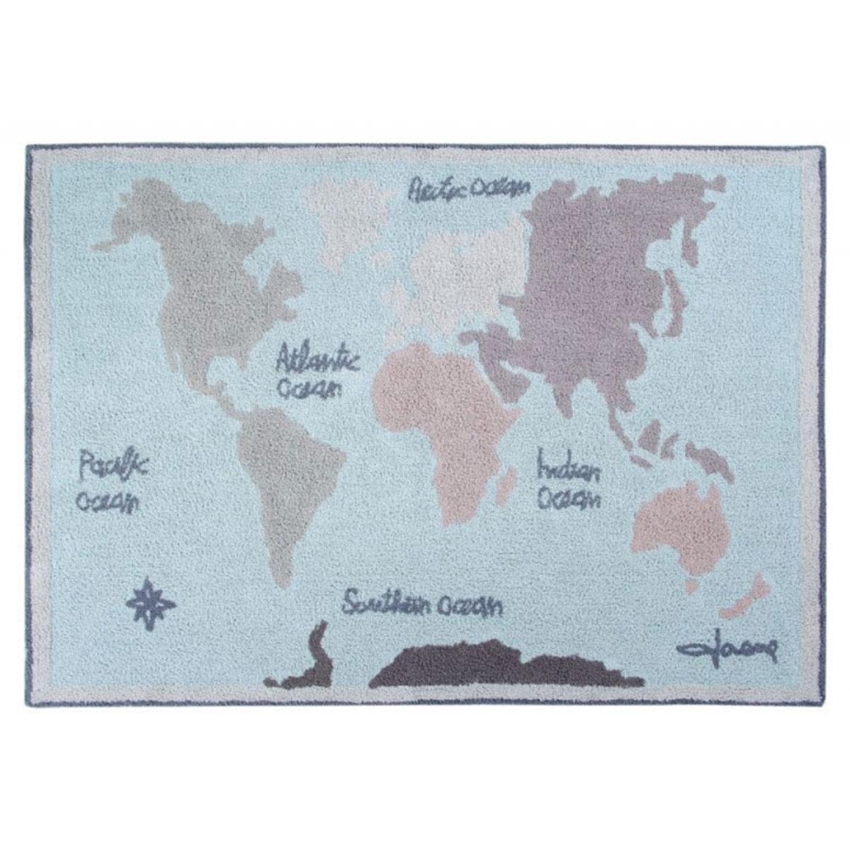Tapis Tapis Vintage Map - 140 x 200 cm Tapis Vintage Map - 140 x 200 cm